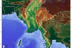 Myanmar Topography