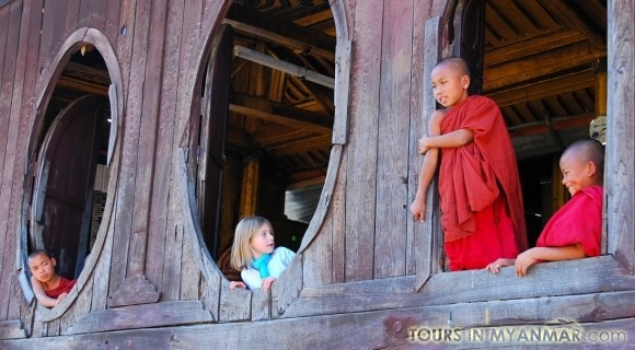 Shwe Yan Pyay Wooden Monastery in Inle Lake