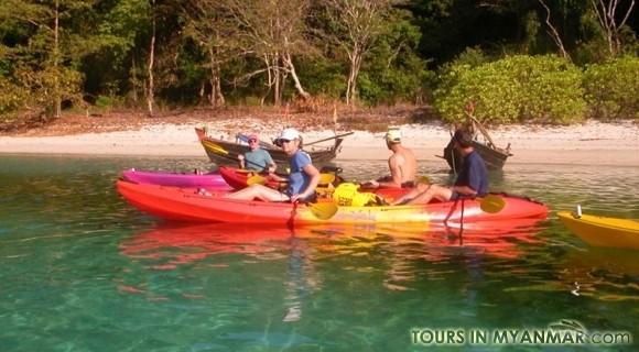 Kayaking in Ngapali