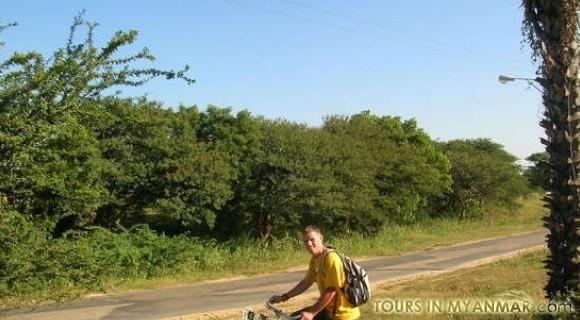 Biking to Mt.Popa