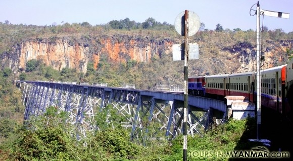 Gokteik Viaduct by train in Pyin Oo Lwin