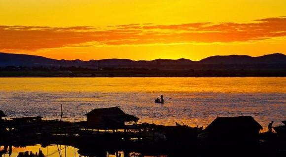 Ayeyarwaddy River in Bagan