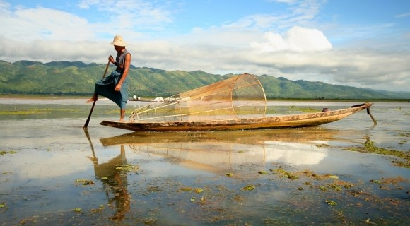 One Leg Fisherman in Inle