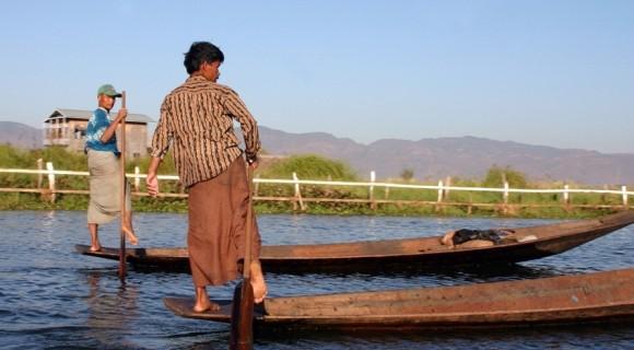 One Leg Fishermen in Inle