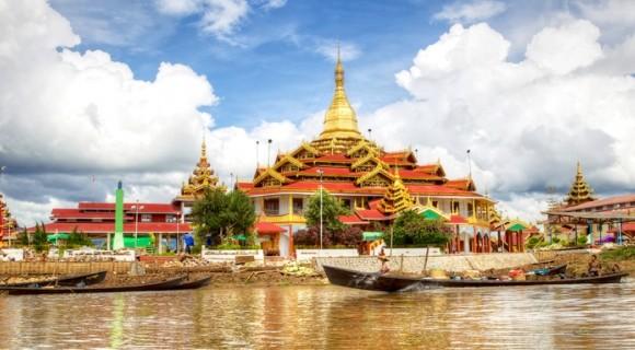 Phaung Daw Oo Pagoda in Inle Lake