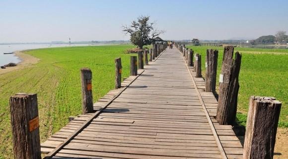 U Bein Bridge in Mandalay