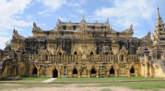 Maha Aung Mye Bon Zan Monastery in Inwa
